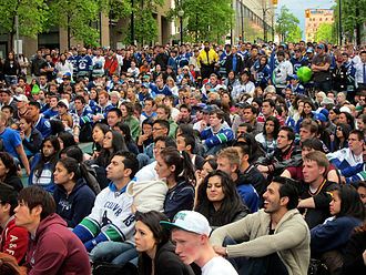 2011 Stanley Cup Finals - Fans watching the finals in Vancouver
