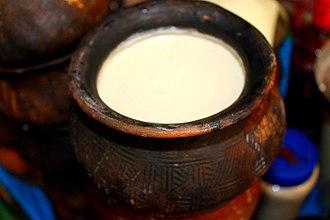 Dahi (curd) - Curd in a traditional Manipuri earthen pot