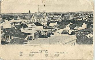 Curitiba - Nossa Senhora da Luz Cathedral and Downtown Curitiba in 1900.