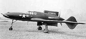 Curtiss-Wright XP-55 Ascender - Curtis XP-55 Ascender side view.