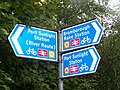 Cycle routes signs in Wirral - geograph.org.uk - 1005878.jpg