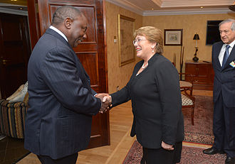 Cyril Ramaphosa - Cyril Ramaphosa meets with Chilean president Michelle Bachelet, 2014