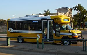 Downtown Irving/Heritage Crossing station - Image: DART New Flex Bus 2012