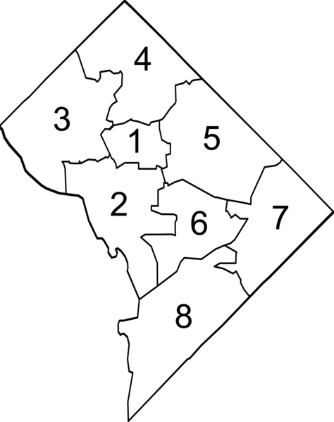 File:DC Ward Map 2002.png - Wikimedia Commons on district of columbia metro map, woodland pa map, philadelphia city council map, metrowest massachusetts map, rochester mn map, chicago demographic map, paterson wa map, arizona time zone map, district of columbia state map, district of columbia street map, washington state dnr land map, philadelphia district map, sochi russia map, maryland street map, milwaukee neighborhood map, johnson county texas road map, philadelphia city limits map, spartanburg south carolina map, seattle washington surrounding area map, middletown new york map,