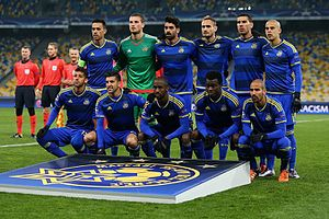 2015–16 Maccabi Tel Aviv F.C. season - Maccabi Tel Aviv prior to its Champions League match against Dynamo Kyiv on 9 December 2015.