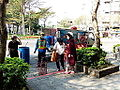 DPE Workers Collecting Recycle Objects in Minsheng Community 20140130b.JPG