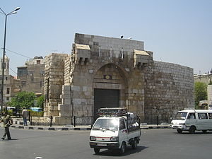 Bab Tuma - Bab Tuma gate in the Old City of Damascus, the capital of Syria.