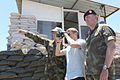 Damien Duff and his brother Sergeant Gerry Duff visit the troops of the Irish 106 Battalion in Tibnine Lebanon (7514464060).jpg
