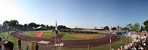 Stadion Branko Čavlović-Čavlek - Image: Dan OSR Ha i H Ko Va Karlovac 290509 pano