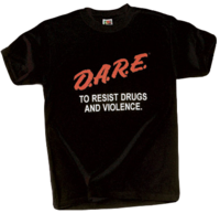 One variation of the D.A.R.E T-shirt design