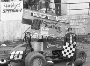Port Royal Speedway - Dave Blaney's sprint car in Port Royal victory lane in 1984