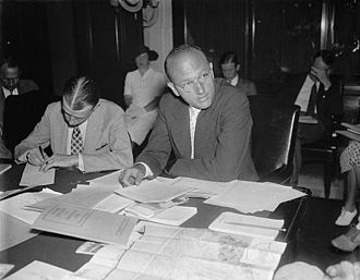 David E. Lilienthal - David E. Lilienthal before a Senate committee in 1937.