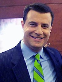 David Shuster after an appearance on MSNBC's H...
