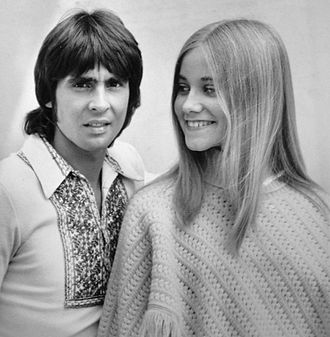 "The Brady Bunch - Davy Jones with Maureen McCormick in the 1971 The Brady Bunch episode ""Getting Davy Jones""."