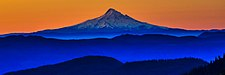Dawn trip on Nat For Rd 99 into Mount St. Helens from the E - Mt Hood (Oregon) (11226411783) (Wikivoyage main page banner).jpg