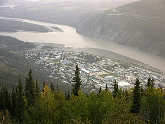 Klondike River - Image: Dawson City Rivers Lookout 3264px