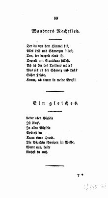 Wandrers Nachtlied Wikipedia