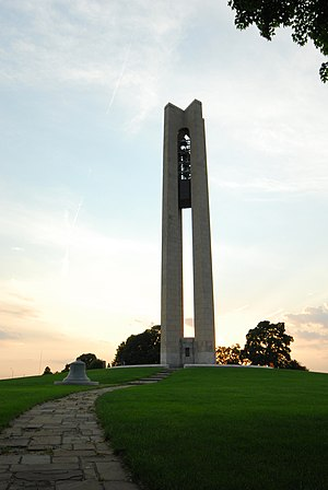 Carillon Historical Park - Deeds Carillon at dusk