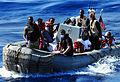 Defense.gov News Photo 100929-N-7948R-326 - U.S. service members transport rescued persons through the Gulf of Aden in a rigid-hull inflatable boat to the amphibious dock ship USS Pearl.jpg