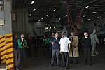 Defense Secretary Ash Carter tours the USS Dwight D. Eisenhower with India's Minister of Defense Manohar Parrikar.jpg