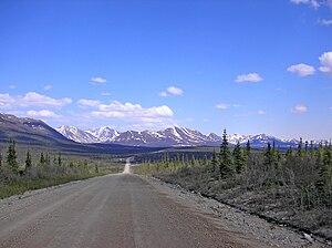 Denali Highway - The Denali Highway as seen in summer.