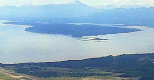 Denman Island - Denman Island looking south from Comox