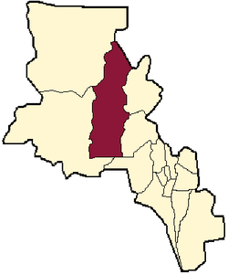 location of Belén Department in Catamarca Province