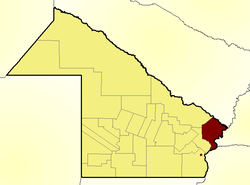 Location of Bermejo Department in Chaco Province