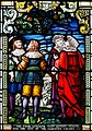Derry Guildhall Tercentenary Window of The Honourable The Irish Society Detail The four citizens from London viewing the site of the proposed colony 2019 08 29.jpg