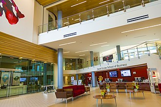 David Eccles School of Business - The interior of the Spencer Fox Eccles Business Building.