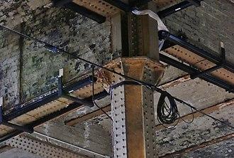 Manchester Mayfield railway station - Detail of ironwork in the underplatform warehouse