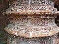Detailed Terracotta works on the pillars of the Brindaban Chandra's temple.jpg