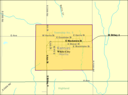 Detailed map of White City, Kansas