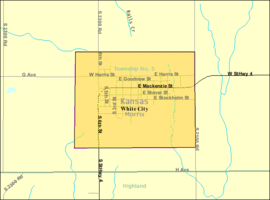 Detailed map of White City, Kansas.png