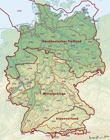 physische karte von deutschland Physische Karte   Wikiwand