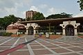 Dhakeshwari Mandir with Nat Mandir - South-western View - Dhakeshwari National Temple Complex - Dhaka 2015-05-31 2681.JPG