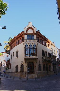 Casa museo llu s dom nech i montaner wikipedia la for Piscina canet de mar