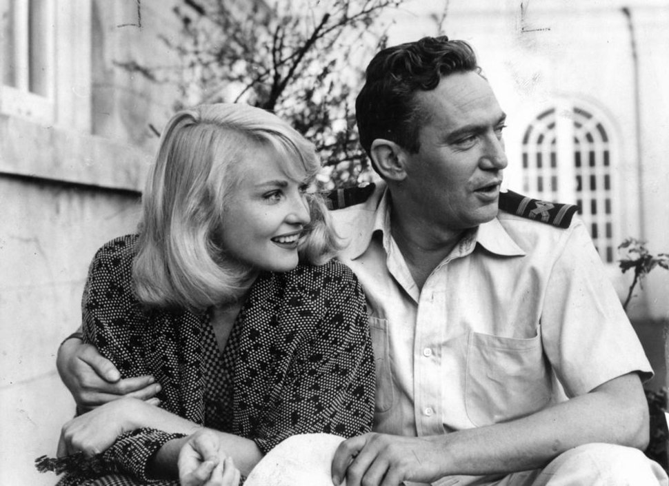 Diane Cilento with Peter Finch