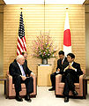 DickCheney visits ShinzoAbe in Tokyo, 2007Feb21 cropped.jpg