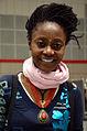 Die!!! Weihnachtsfeier 2013, 102 Die phantasievoll geschmückte Kinder- und Jugendbuchautorin Agatha Ombeni Ngonyani war aus Hamburg angereist, um Kindern unentgeltlich vorzulesen.jpg