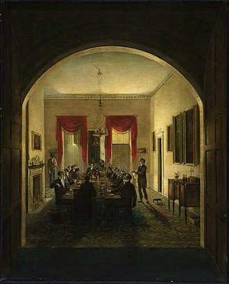 Boston Artists' Association - Image: Dinner Party ca 1821 by Henry Sargent MFA Boston