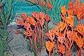 Diorama of a Carboniferous seafloor - crinoids 1 (45606235111).jpg