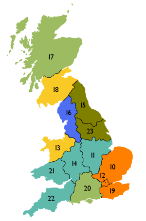 Electricity Distribution Regions Uk