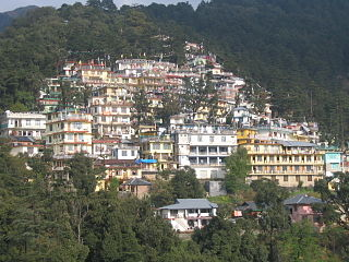 McLeod Ganj Suburb in Kangra, Himachal Pradesh, India