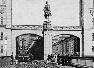 Cathedral Bridge - Image: Dombruecke 1860