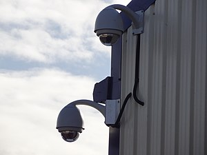 Closed-circuit television - Dome CCTV cameras.
