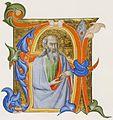 Don Silvestro dei Gherarducci - Gradual 2 for San Michele a Murano - A Prophet in an Initial A (Victoria and Albert Museum, MS 975, no. D.224-1906).jpg