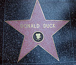 Étoile de Donald sur le Walk of Fame, à Hollywood.