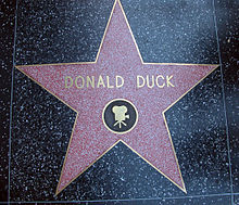 Donald Duck Star on the Walk of Fame.JPG