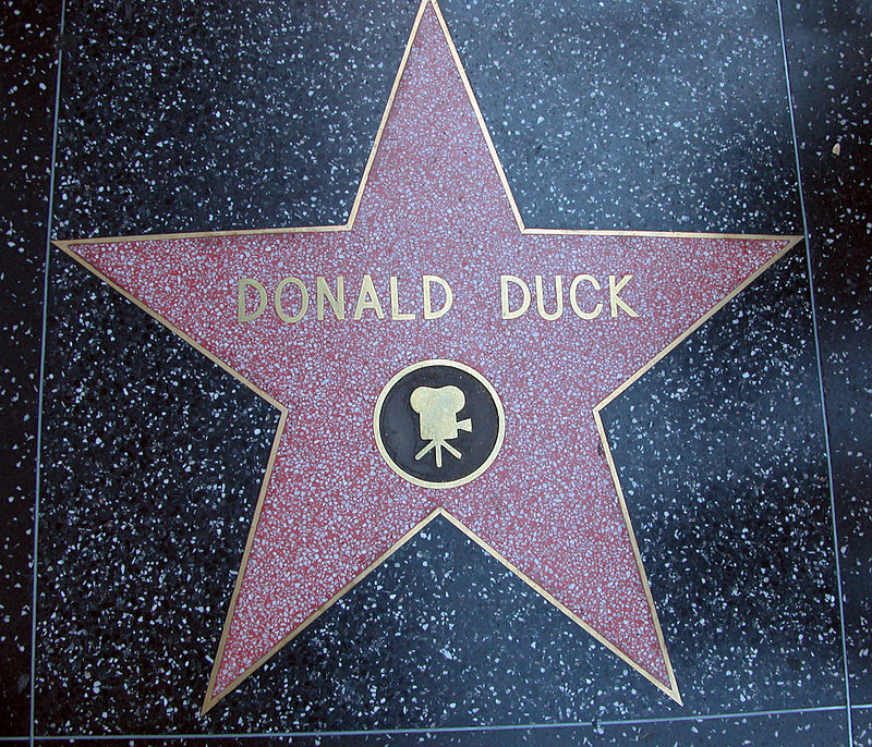 800px Donald Duck Star on the Walk of Fame